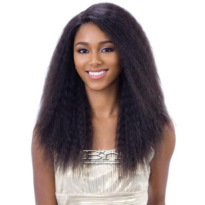 Naked 100% Brazilian Natural Hair Deep Invisible L Part Lace Front Wig - NATURAL 201