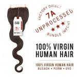 Sensationnel 100% Virgin Human Hair Bare & Natural - 7A 4X4 BODY WAVE LACE CLOSURE 10