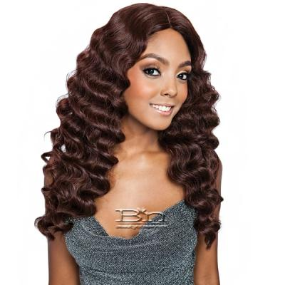 Isis Brown Sugar Human Hair Blend Full Wig - BS1602 (6 inch Deep Part)