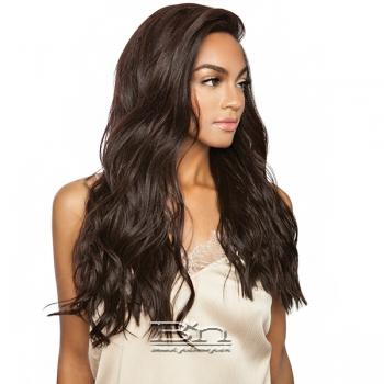 Isis Melanin Queen Human Hair Blend Frontal Lace - MLF08 NATURAL WAVE 24 (13x4 free parting)