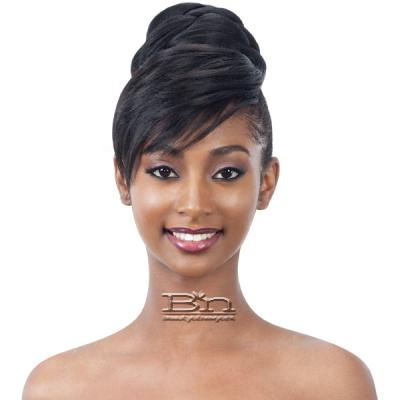 Freetress Equal Swoop Side Bun & Bang 2PCS - TWISTED BUN BANG