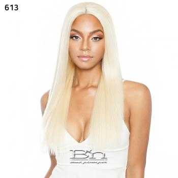 Isis Melanin Queen Human Hair Blend Lace Wig - MLE02 YAKY SLEEK 26 (ear to ear wide lace part)