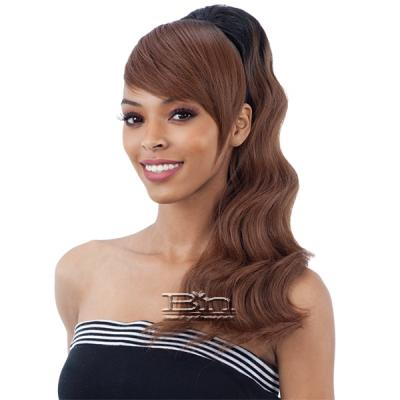 Freetress Equal Drawstring Ponytail - LOOSE DEEP 2PCS (swoop side bang)