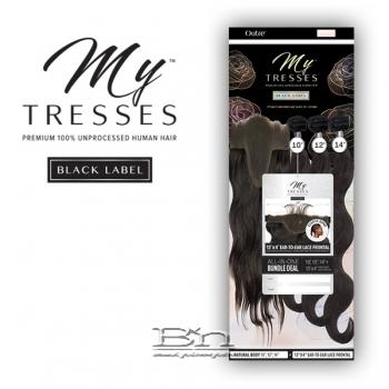 Outre Mytresses Black Label 100% Unprocessed Human Hair Weave - BODY 16,18,20 (13x4 Lace Closure With Bundles)