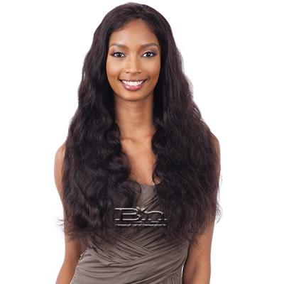 Naked 100% Brazilian Natural Hair Frontal Lace Wig - NATURAL 101 (body wave 26)