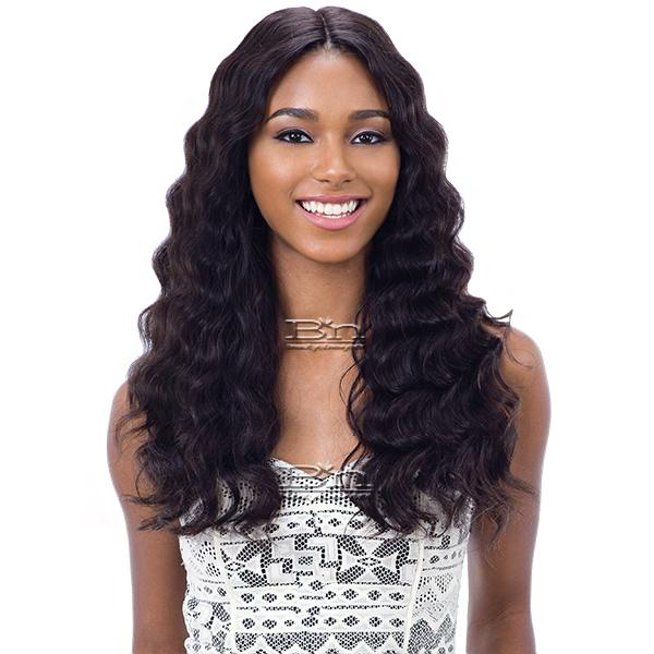 Naked 100% Brazilian Natural Hair Frontal Lace Wig - NATURAL 301 (5 inch part lace)