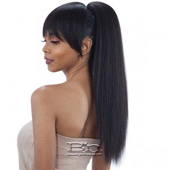 Model Model Synthetic Ponytail and Blunt Bang - YAKY STRAIGHT (2PCS)