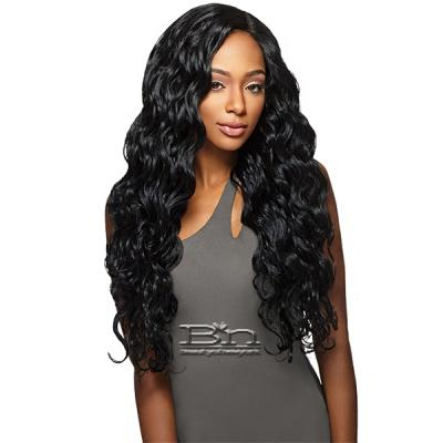 Outre Purple Pack Brazilian Boutique Human Hair Blend Weaving - VIRGIN BODY 4PCS (18/20/22 + 4 inch lace closure)