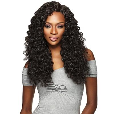 Outre Purple Pack Brazilian Boutique Human Hair Blend Weaving - VIRGIN DEEP 4PCS (18/20/22 + 4 inch lace closure)