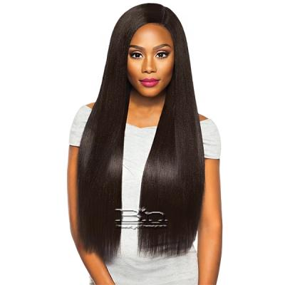 Outre Purple Pack Brazilian Boutique Human Hair Blend Weaving - VIRGIN SLEEK PRESSED 4PCS (18/20/22 + 4 inch lace closure)