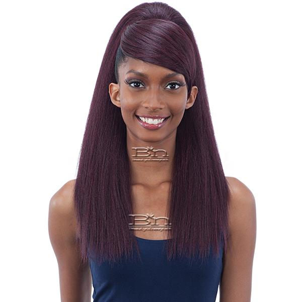 Model Model Synthetic Ponytail and Swoop Side Bang - YAKY STRAIGHT (2PCS)