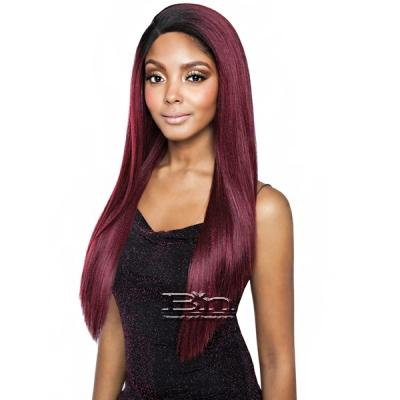 Isis Melanin Queen Human Hair Blend Frontal Lace - MLF07 V-CUT STRAIGHT 26 (13x4 Free Parting)