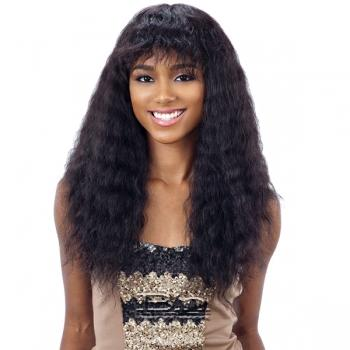 Naked 100% Brazilian WET & WAVY Natural Hair Wig - DEEP CURL BANG