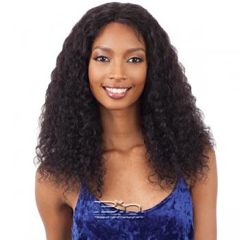 Naked 100% Brazilian WET & WAVY Natural Hair Lace Front Wig - DEEP CURL