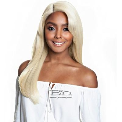 Isis Brown Sugar Flat & Lay Human Hair Blend Lace Front Wig - BSL201 LEMONGRASS (6 inch deep part)