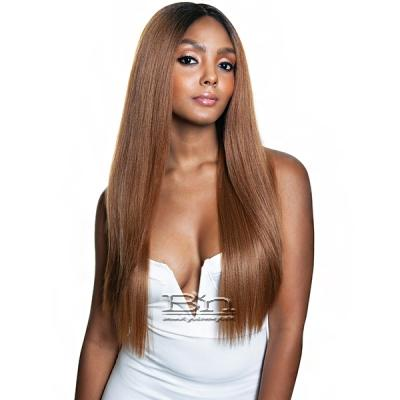 Isis Brown Sugar Flat & Lay Human Hair Blend Lace Front Wig - BSL203 SAGE (6 inch deep part)