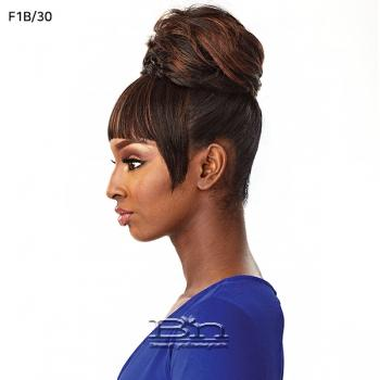 Sensationnel Synthetic Instant Bun with Bangs - ADA