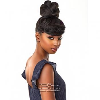 Sensationnel Synthetic Instant Bun with Bangs - BRIA