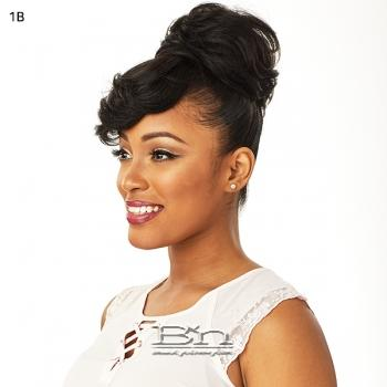 Sensationnel Synthetic Instant Bun with Bangs - CARLA