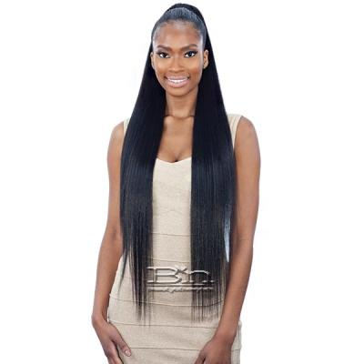 Model Model Synthetic Drawstring Ponytail - SILKY STRAIGHT YAKY 32