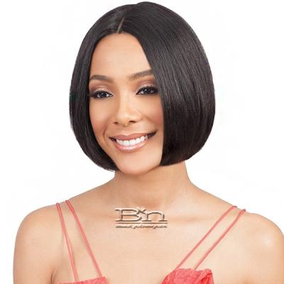 Bobbi Boss 100% Human Hair Swiss Lace Front Wig - MHLF802 EMA SHORT (5 inch deep part)