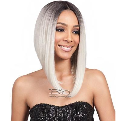 Bobbi Boss Synthetic Swiss Lace Front Wig - MLF218 LYNA ANGLED BOB (5 inch deep part)