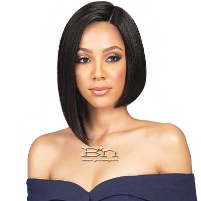 Bobbi Boss 100% Human Hair Sleek Bob Lace Front Wig - MHLF401 HH NADINE (5 inch deep part)