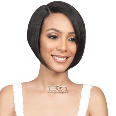 Bobbi Boss 100% Human Hair Sleek Bob Lace Front Wig - MHLF403 HH SHANTEL (5 inch deep part)