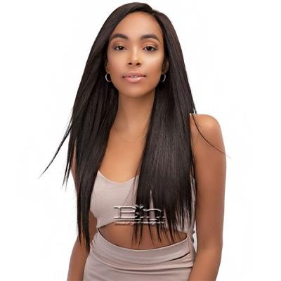 Janet Collection 100% Unprocessed Remy Human Hair Weave - BUNDLE STRAIGHT 3PCS (10/12/14 + 13x4 temple lace)