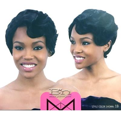 Mayde Beauty Lace and Lace 100% Human Hair Lace Front Wig - RETRO WAVE PIXIE