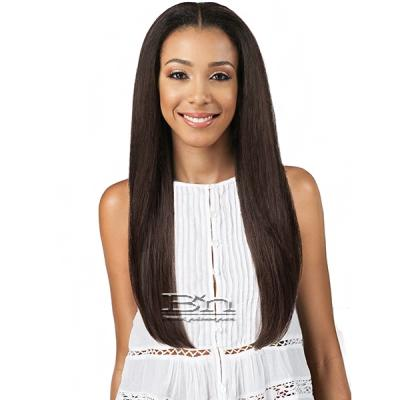 Bobbi Boss Human Hair Blend Swiss Lace Front Wig - MBLF20 ZIA (4.5 inch deep part)