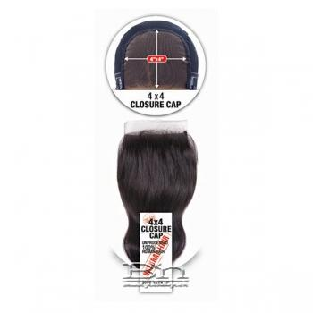 100% Unprocessed Human Hair Closure Cap Body Wave 12 (4x4)