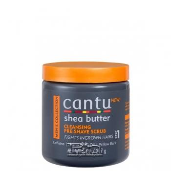 Cantu Shea Butter Mens Collection Cleansing Pre Shave Scrub 8oz