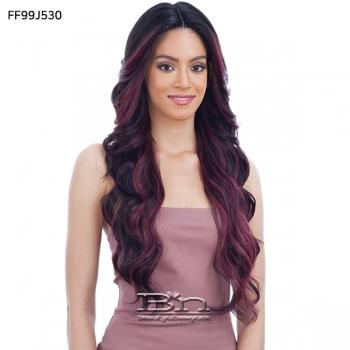 Model Model Lace To Lace Synthetic Hair 5 inch Deep Center Part Lace Front Wig - LOTTIE