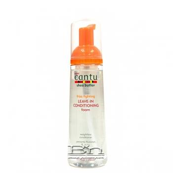 Cantu Shea Butter Frizz Fighting Leave-In Conditioning Foam 8.4oz