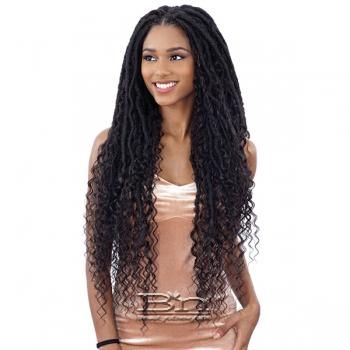 Freetress Equal Synthetic Hand Tied Lace Part Braid Wig - MERMAID LOC