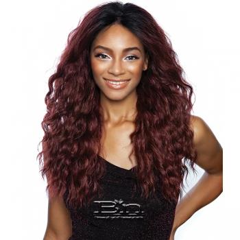 Mane Concept Brown Sugar Natural Hairline Human Hair Blend Lace Front Wig - BSN204 ACADIA