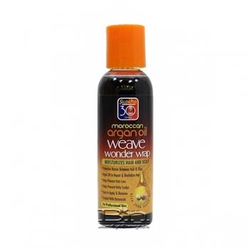 Salon Pro 30 Sec Moroccan Argan Oil Weave Wonder Wrap - Black 2oz