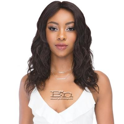 Janet Collection 100% Natural Virgin Remy Human Hair Deep Part Lace Wig - Natural 18