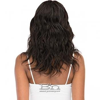 Janet Collection 100% Natural Virgin Remy Human Hair Deep Part Lace Wig - Natural 18 (center part)