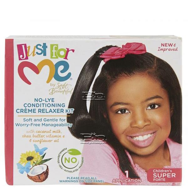 Just For Me No-Lye Conditioning Creme Relaxer Kit - Super