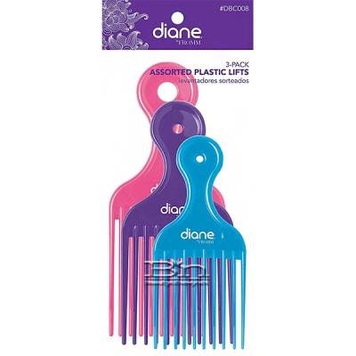 Diane #DBC008 3-Pack Assorted Plastic Lifts
