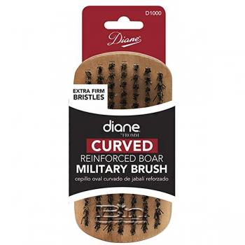 Diane #1000 Curved Reinforced Boar Military Brush Extra Firm Bristles
