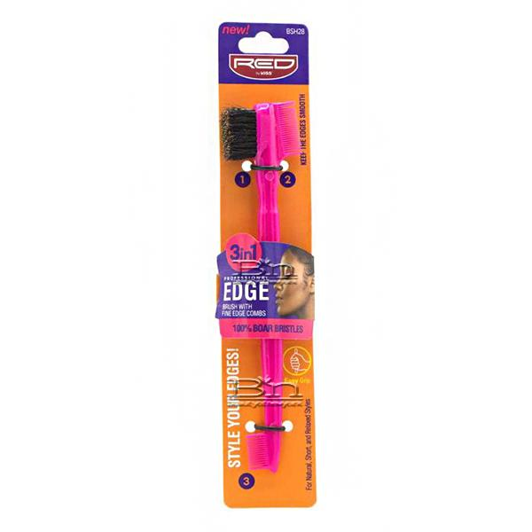 Red by Kiss BSH28 Professional Edge 3in1 Brush with Fine Edge Combs