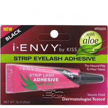 Kiss I-Envy KPEG02A Strip Lash Adhesive with Aloe - Black 0.25oz