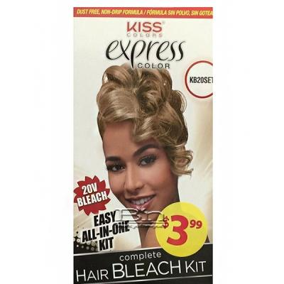 Kiss Colors 20V Express Color Hair Bleach Kit