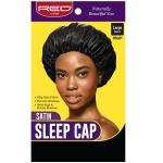 Red by Kiss HSL01 Satin Sleep Cap - Large Black