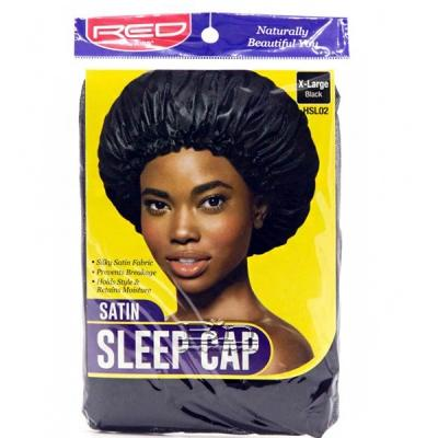 Red by Kiss HSL02 Satin Sleep Cap - X Large Black