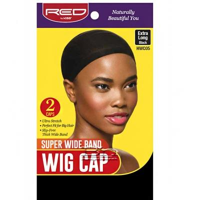 Red by Kiss HWC05 Super Wide Band Wig Cap - 2 Cap Extra Long Black