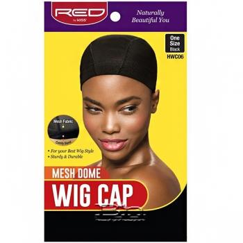 Red by Kiss HWC06 Mesh Dome Wig Cap - One Size Black